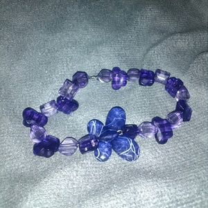 Handcrafted Purple Butterfly Beaded Bracelet
